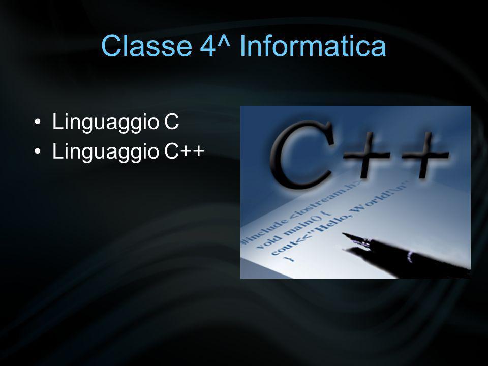 Classe 4^ Informatica Linguaggio Java Basic (Visual)