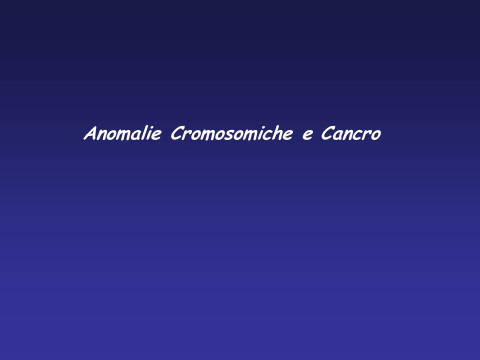 Anomalie Cromosomiche e Cancro