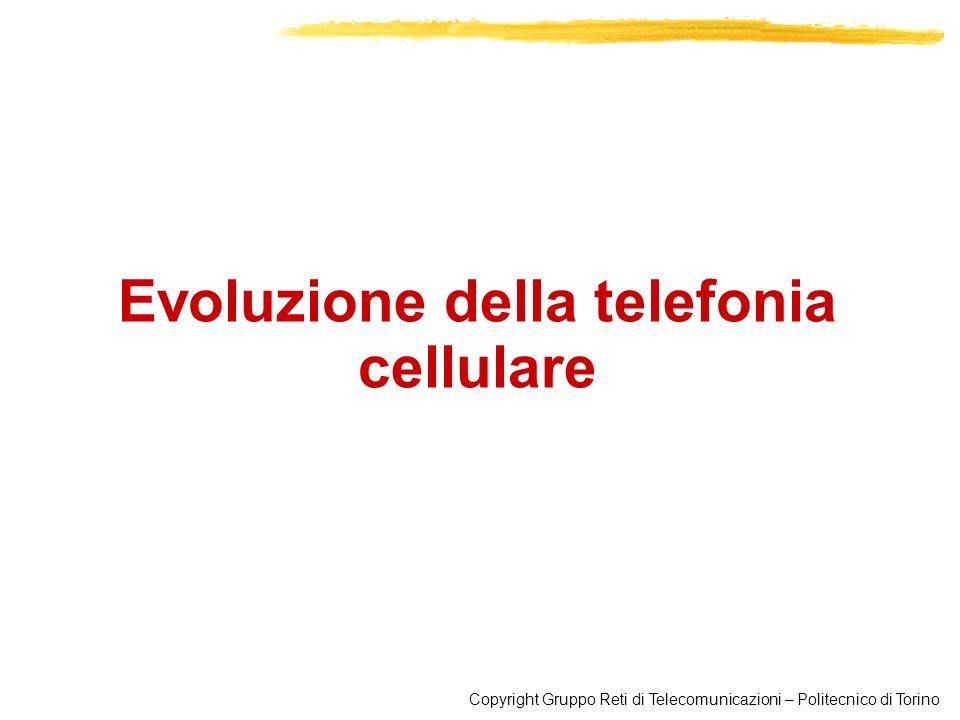 Copyright Gruppo Reti di Telecomunicazioni – Politecnico di Torino Evoluzione della telefonia cellulare