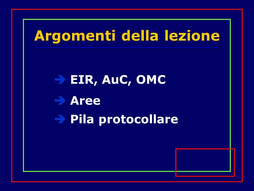Argomenti della lezione EIR, AuC, OMC Aree Pila protocollare