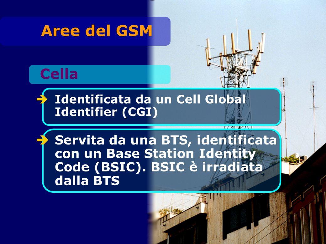 Identificata da un Cell Global Identifier (CGI) Servita da una BTS, identificata con un Base Station Identity Code (BSIC).