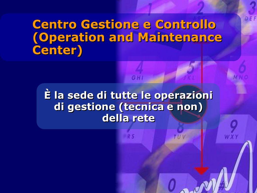 È la sede di tutte le operazioni di gestione (tecnica e non) della rete Centro Gestione e Controllo (Operation and Maintenance Center)