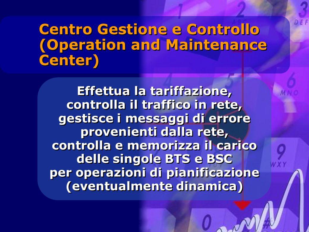 Effettua la tariffazione, controlla il traffico in rete, gestisce i messaggi di errore provenienti dalla rete, controlla e memorizza il carico delle s