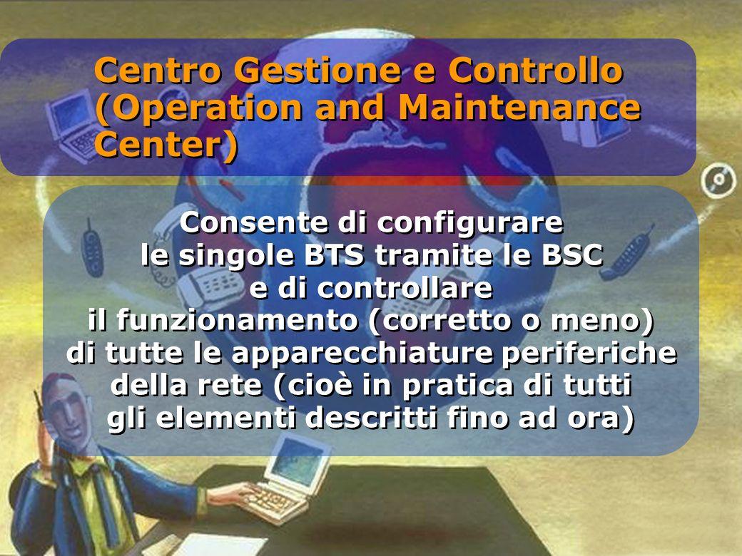 Consente di configurare le singole BTS tramite le BSC e di controllare il funzionamento (corretto o meno) di tutte le apparecchiature periferiche dell