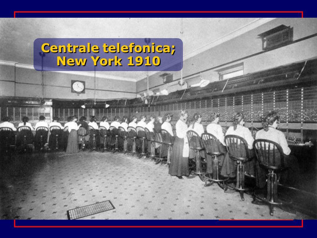 Centrale telefonica; New York 1910