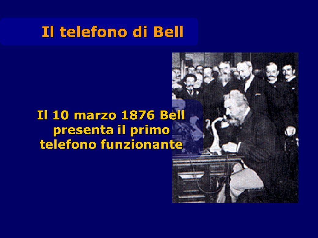 Il telefono di Bell Il 10 marzo 1876 Bell presenta il primo telefono funzionante Il 10 marzo 1876 Bell presenta il primo telefono funzionante
