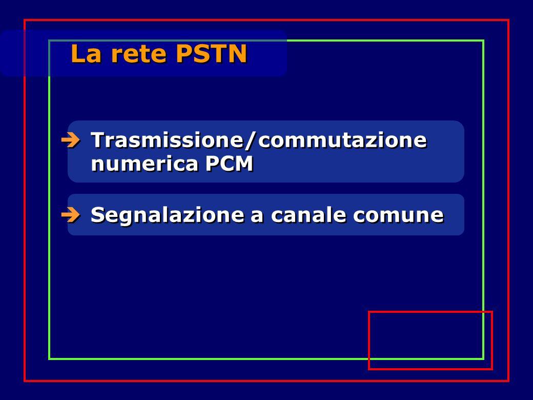 Trasmissione/commutazione numerica PCM Segnalazione a canale comune La rete PSTN