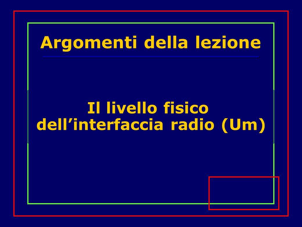 Il livello fisico dellinterfaccia radio (Um) Argomenti della lezione