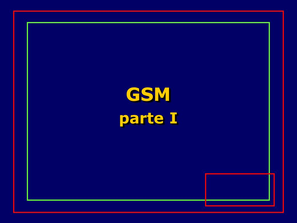Servizi attualmente offerti dal GSM Trasmissione dati (non strutturata) sincrona e asincrona tra 300 bit/s e 9.6 kbit/s Accesso PAD (Packet Assembly/ Disassembly) asincrono tra 300 bit/s e 9.6 kbit/s Servizi di trasporto