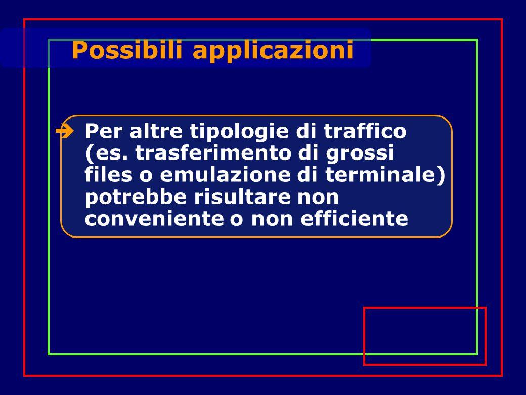 Per altre tipologie di traffico (es.