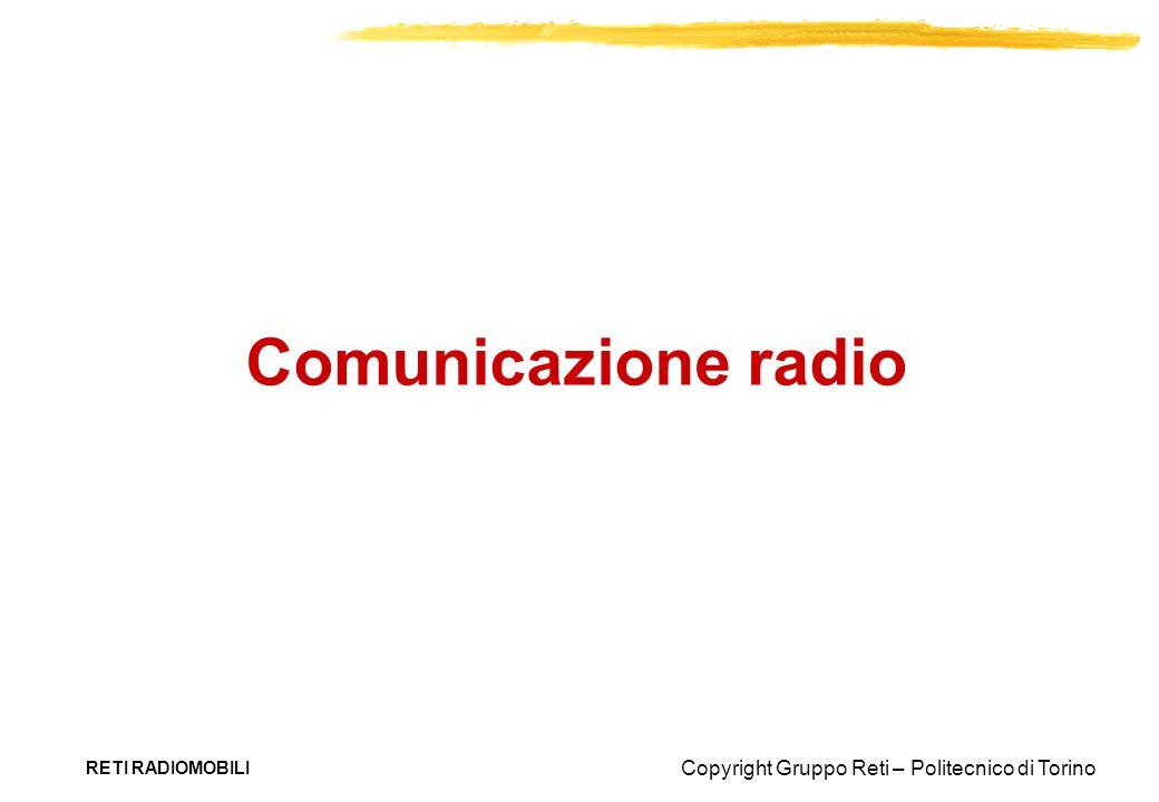 Copyright Gruppo Reti – Politecnico di Torino RETI RADIOMOBILI Comunicazione radio