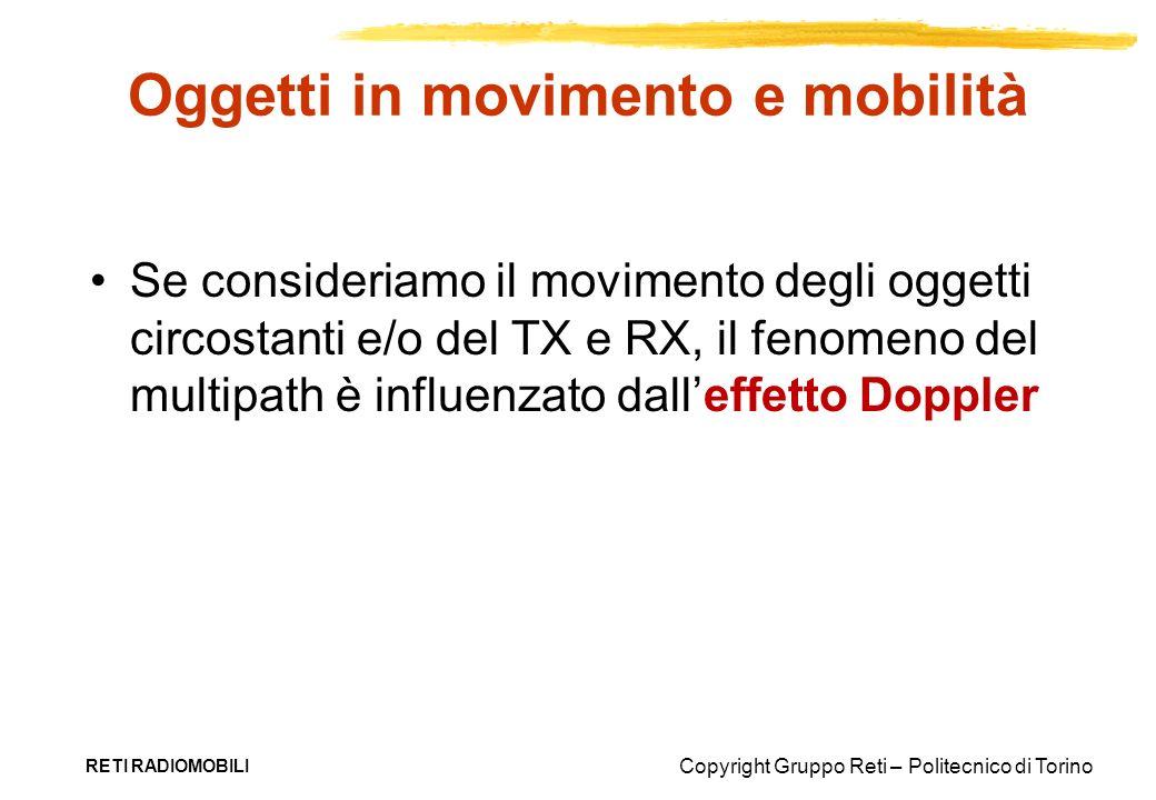 Copyright Gruppo Reti – Politecnico di Torino RETI RADIOMOBILI Oggetti in movimento e mobilità Se consideriamo il movimento degli oggetti circostanti