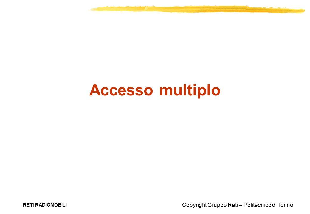 Copyright Gruppo Reti – Politecnico di Torino RETI RADIOMOBILI Accesso multiplo