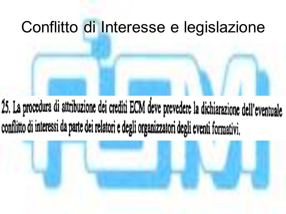 Conflitto di Interesse e legislazione