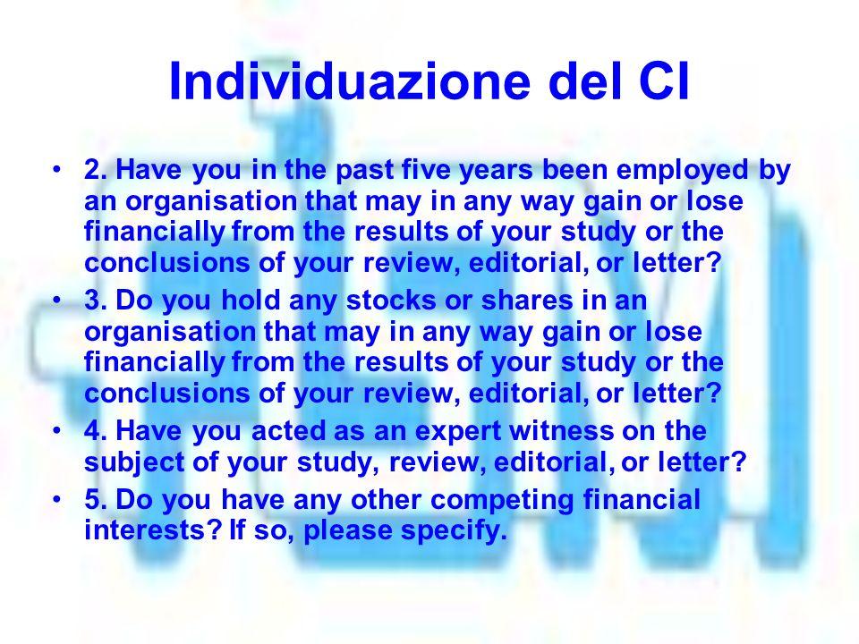 Individuazione del CI 2.