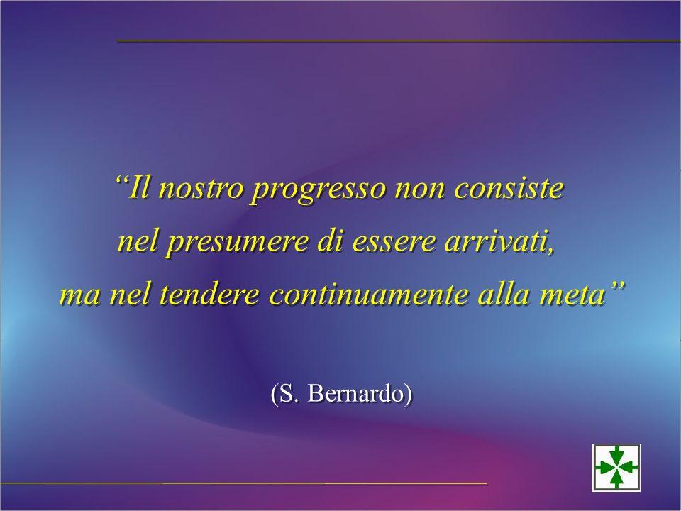 Il nostro progresso non consiste nel presumere di essere arrivati, ma nel tendere continuamente alla meta (S.