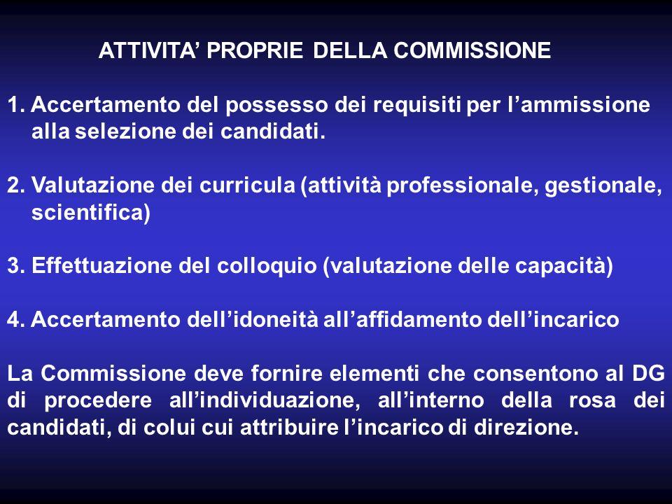 ATTIVITA PROPRIE DELLA COMMISSIONE 1.