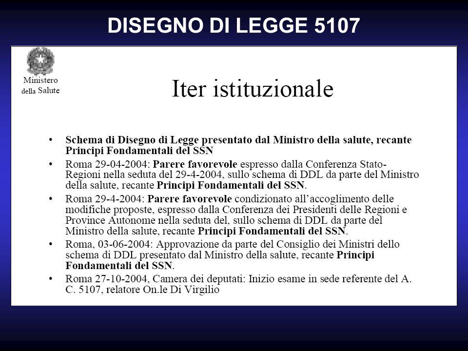 DISEGNO DI LEGGE 5107
