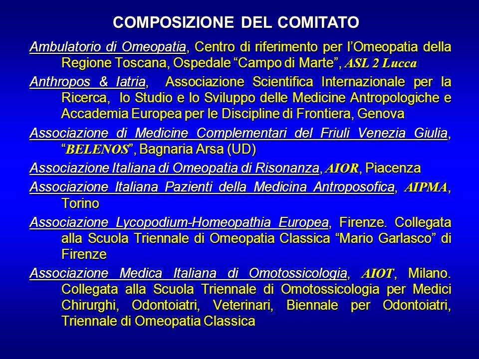 Ambulatorio di Omeopatia, Centro di riferimento per lOmeopatia della Regione Toscana, Ospedale Campo di Marte, ASL 2 Lucca Anthropos & Iatria, Associa