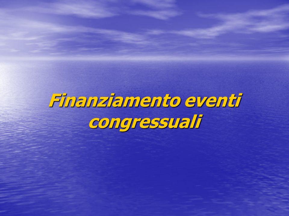 Finanziamento eventi congressuali