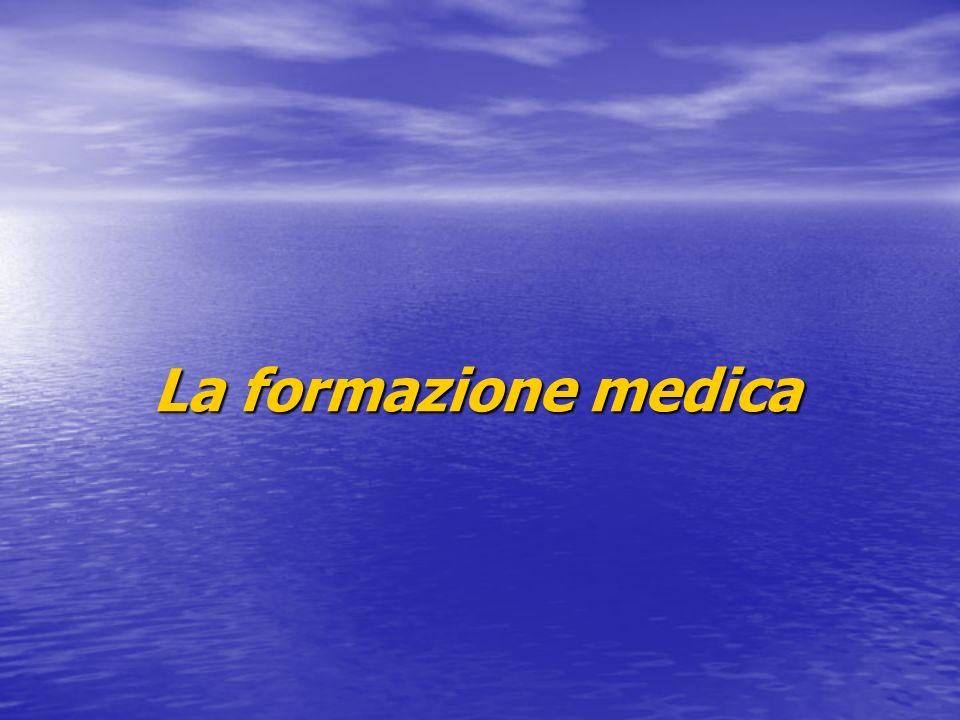 FORMAZIONE MEDICA 1 Quale ritiene debba essere levoluzione della formazione continua dopo la fase quinquennale di sperimentazione.