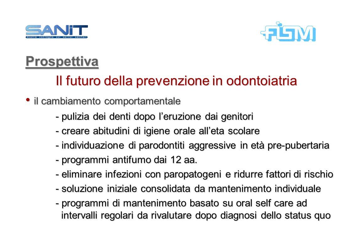 Prospettiva Il futuro della prevenzione in odontoiatria il cambiamento comportamentale il cambiamento comportamentale - pulizia dei denti dopo leruzio