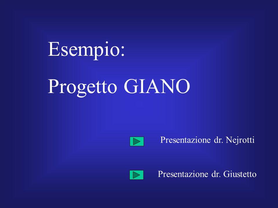 Esempio: Progetto GIANO Presentazione dr. Nejrotti Presentazione dr. Giustetto