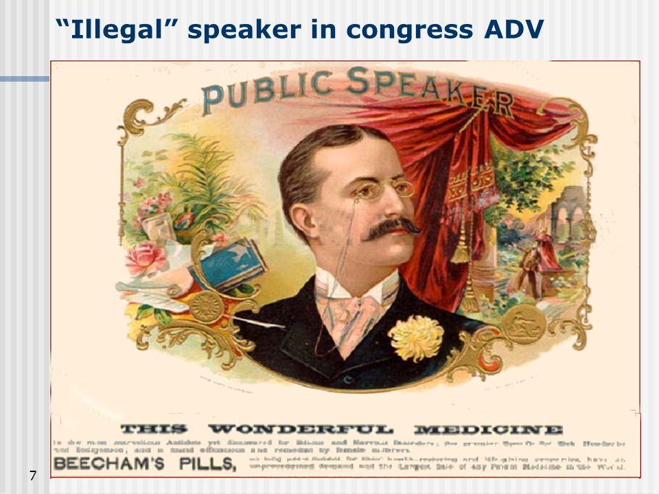 7 Illegal speaker in congress ADV