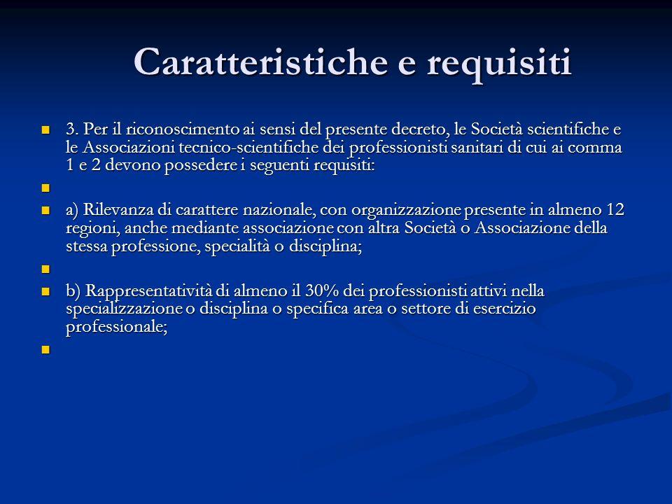 Caratteristiche e requisiti 3.