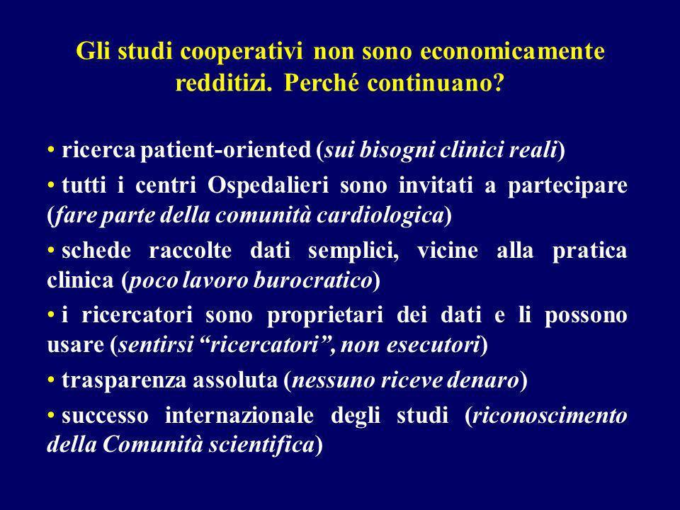 Gli studi cooperativi non sono economicamente redditizi.