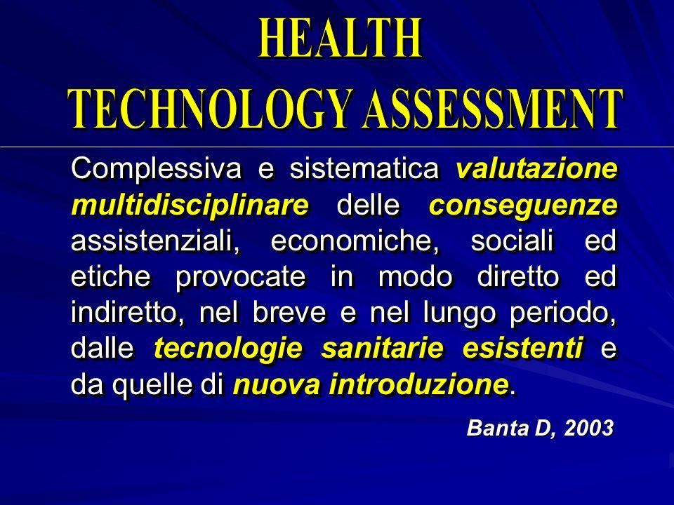 Complessiva e sistematica valutazione multidisciplinare delle conseguenze assistenziali, economiche, sociali ed etiche provocate in modo diretto ed in