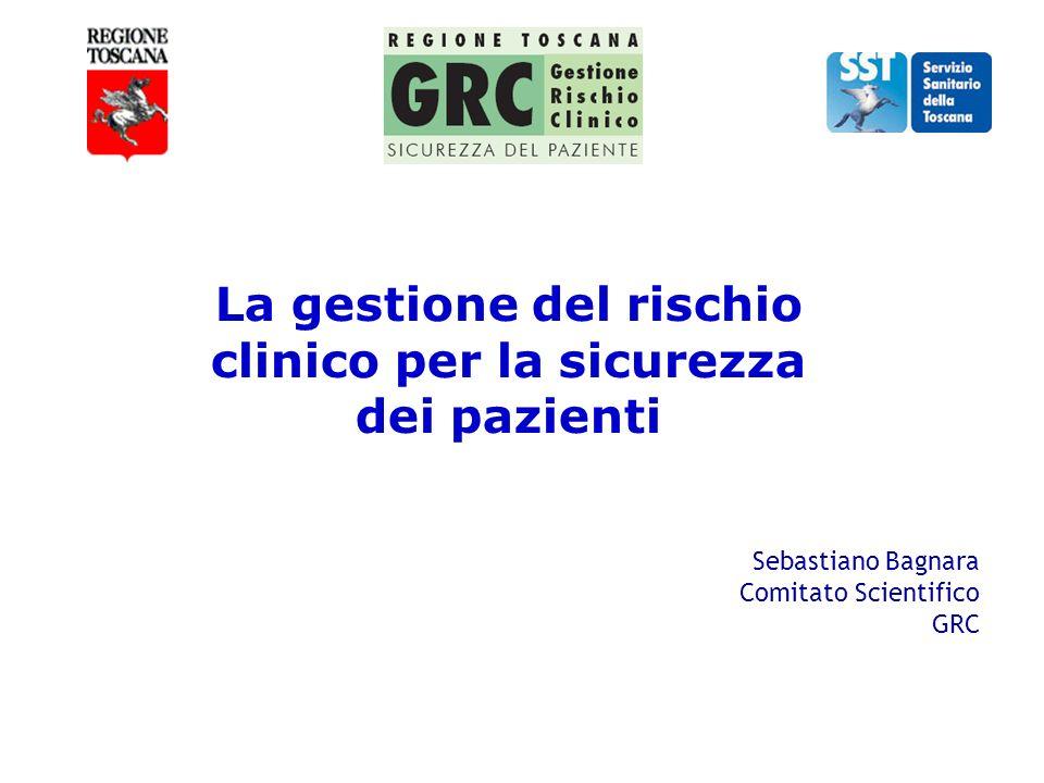 La gestione del rischio clinico per la sicurezza dei pazienti Sebastiano Bagnara Comitato Scientifico GRC