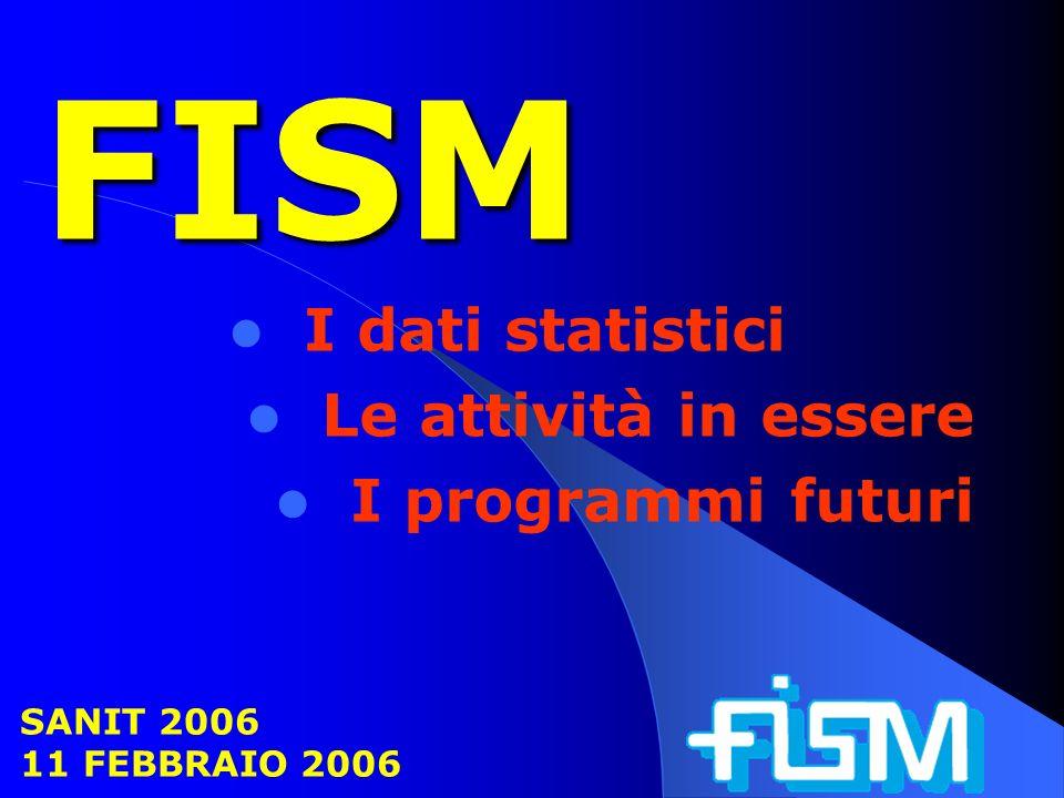 FISM I dati statistici Le attività in essere I programmi futuri SANIT 2006 11 FEBBRAIO 2006