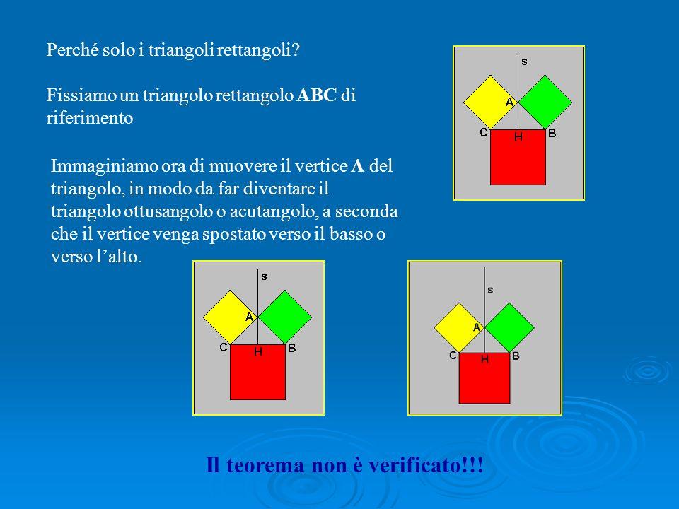 Portata generale del teorema: tutti i triangoli rettangoli lo verificano!