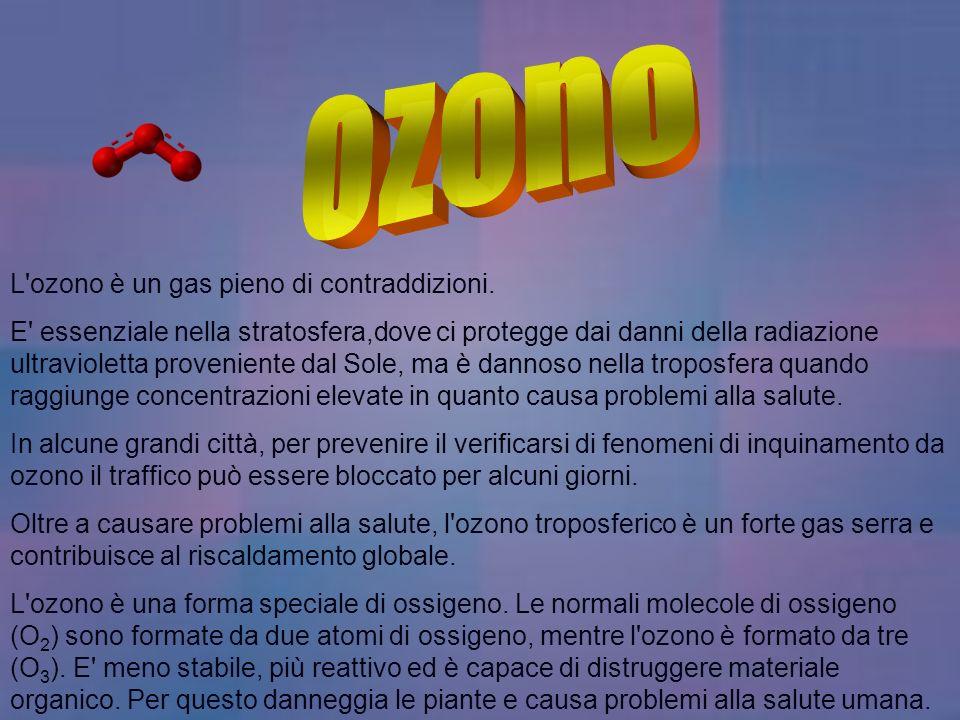 L'ozono è un gas pieno di contraddizioni. E' essenziale nella stratosfera,dove ci protegge dai danni della radiazione ultravioletta proveniente dal So