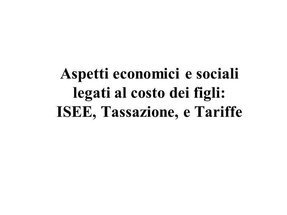 Aspetti economici e sociali legati al costo dei figli: ISEE, Tassazione, e Tariffe