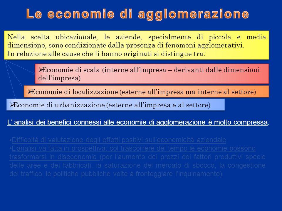 I fattori di localizzazioni e la loro incidenza sullandamento economico finanziario dell impresa 1.