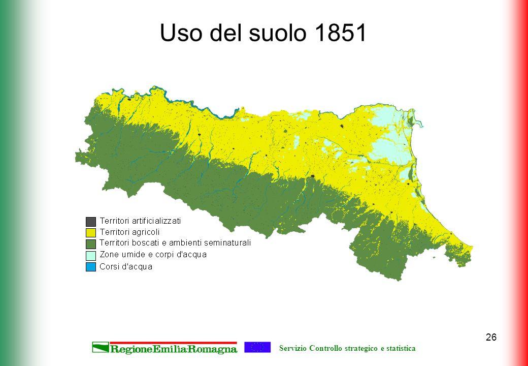 Servizio Controllo strategico e statistica 26 Uso del suolo 1851