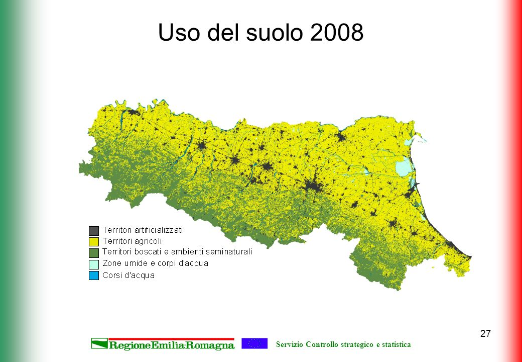 Servizio Controllo strategico e statistica 27 Uso del suolo 2008