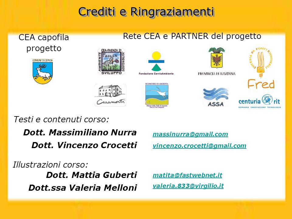 Testi e contenuti corso: Crediti e Ringraziamenti Dott. Massimiliano Nurra Dott. Vincenzo Crocetti massinurra@gmail.com vincenzo.crocetti@gmail.com Il