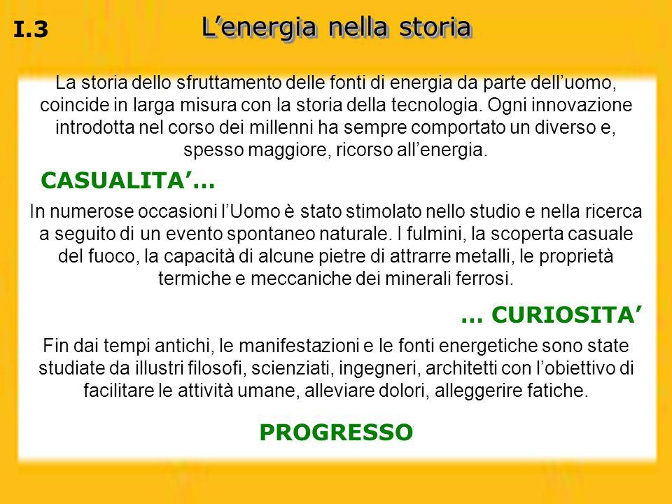 Lenergia nella storia Fin dai tempi antichi, le manifestazioni e le fonti energetiche sono state studiate da illustri filosofi, scienziati, ingegneri,