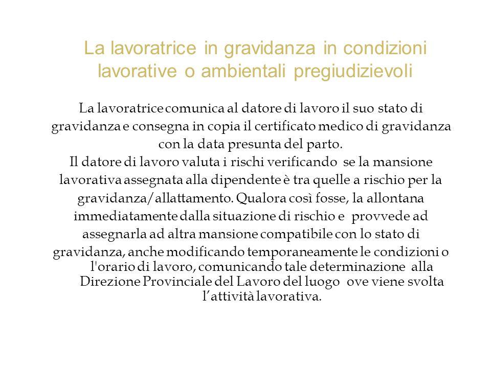 La lavoratrice comunica al datore di lavoro il suo stato di gravidanza e consegna in copia il certificato medico di gravidanza con la data presunta de