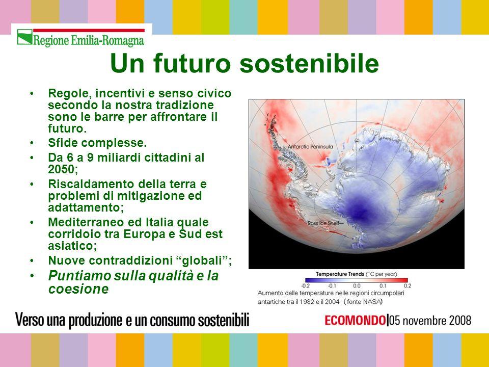 Un futuro sostenibile Regole, incentivi e senso civico secondo la nostra tradizione sono le barre per affrontare il futuro.