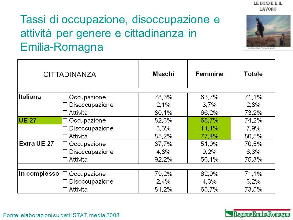 Tassi doccupazione delle donne Fonte: Eurostat, 2008