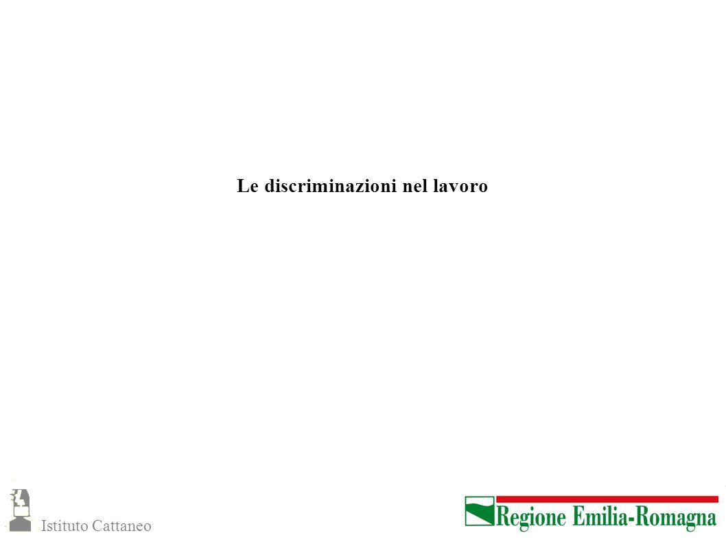 Le discriminazioni nel lavoro Istituto Cattaneo