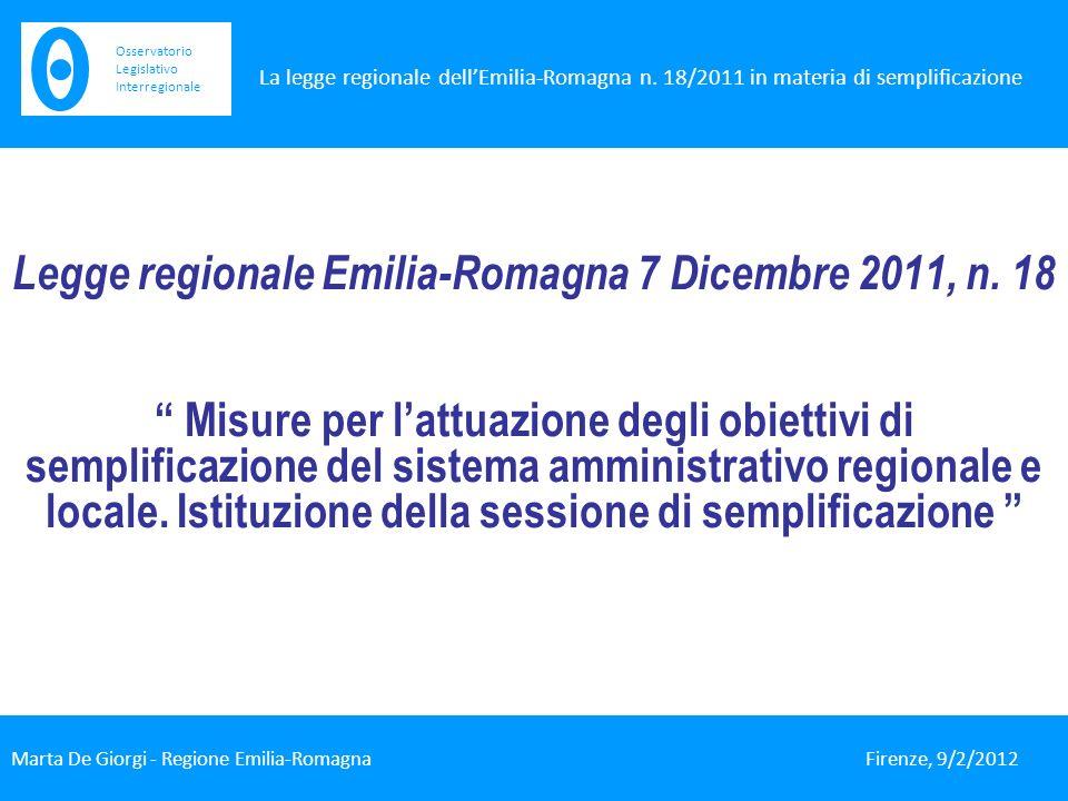 Legge regionale Emilia-Romagna 7 Dicembre 2011, n.