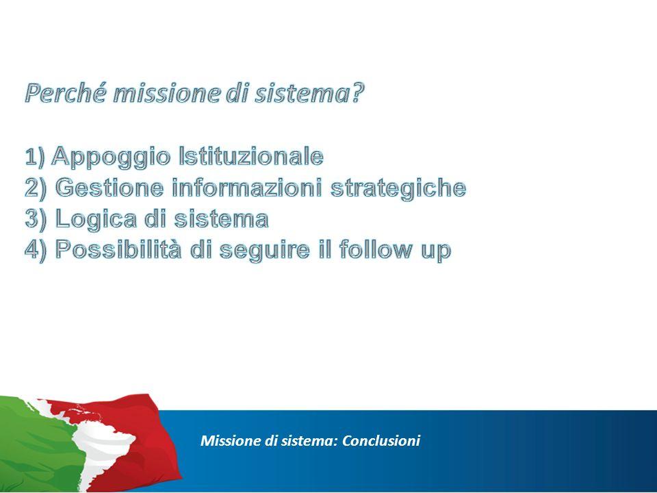 Missione di sistema: Conclusioni