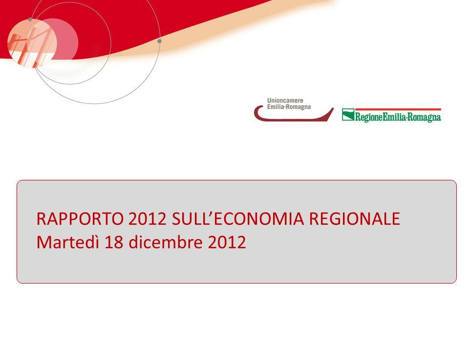 RAPPORTO 2012 SULLECONOMIA REGIONALE Martedì 18 dicembre 2012