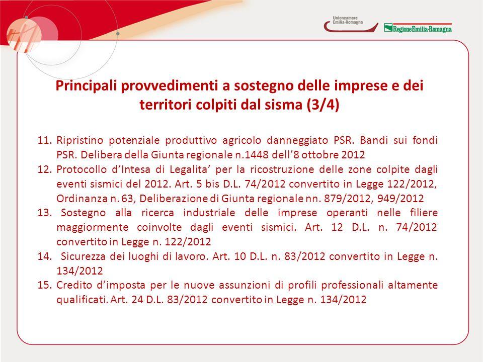 11.Ripristino potenziale produttivo agricolo danneggiato PSR.