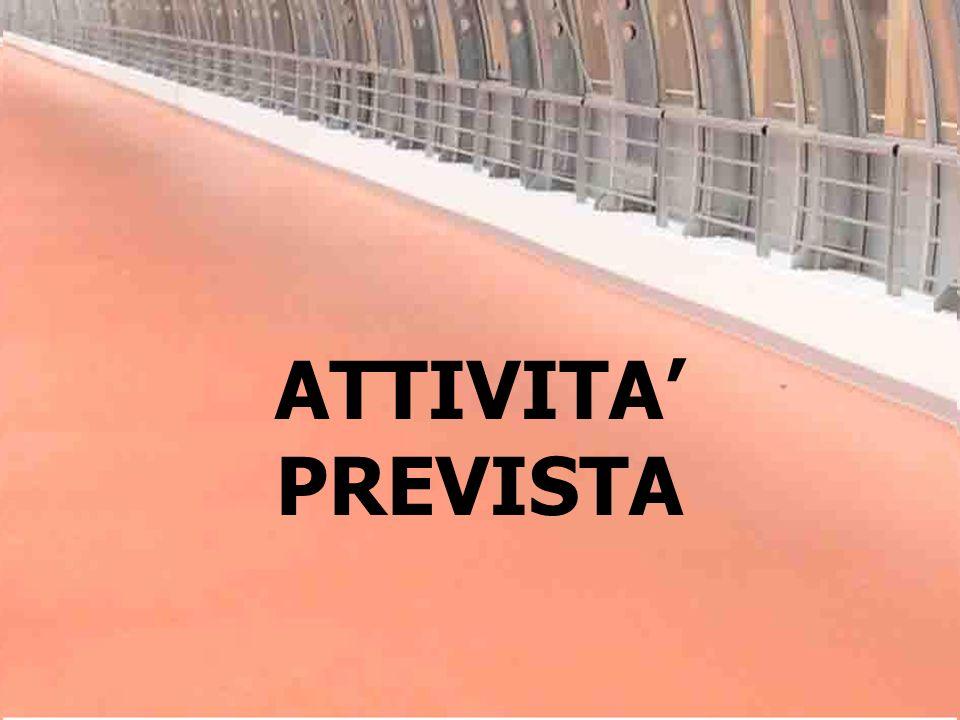 ATTIVITA PREVISTA